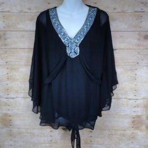WHBM White House Black Market Kimono Top - NWT - M
